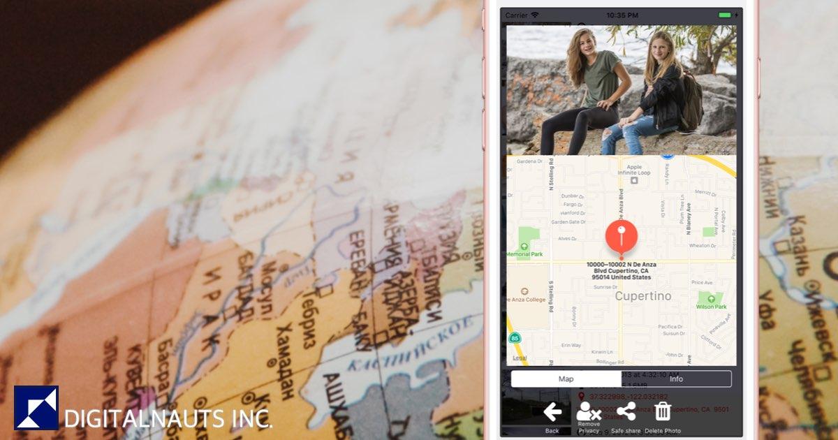 写真のExif 位置 サイズを一覧表示 一括削除 - iPhone/iPad App  By DIGITALNAUTS INC.